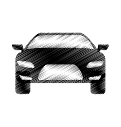 Hand drawing sports car front vector