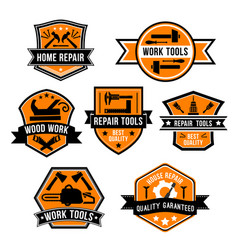 hardware work tool isolated icons vector image vector image