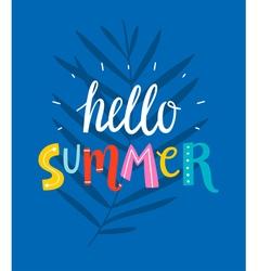 Hello summer blue card vector image vector image