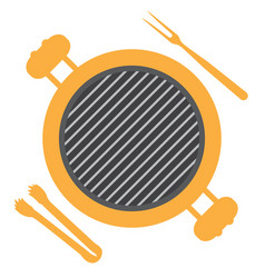 Isolated barbecue grill vector