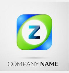 Letter z logo symbol in the colorful square vector