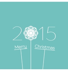 Merry Christmas 2015 Background vector image vector image