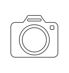 Modern photographic camera vector