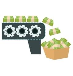 Money machine icon vector