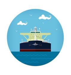 Oil tanker icon vector