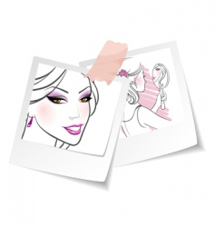 photo girls vector image vector image