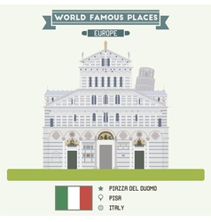 Piazza del Duomo Pisa vector image