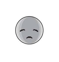 sad cartoon face negative people emotion icon vector image