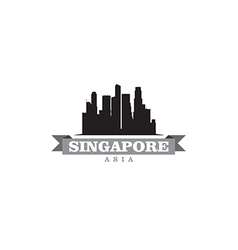 Singapore Asia city symbol silhouette vector image vector image