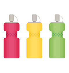 Sport bottles icon for water icon in flat style vector