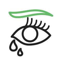 Tears in eyes vector