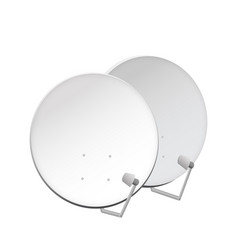 Television dish antenna for web and tv broadcast vector