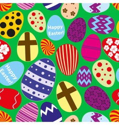 various color Easter eggs design seamless pattern vector image