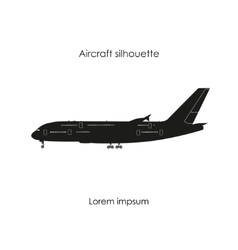 Black silhouette of a civil airplane vector