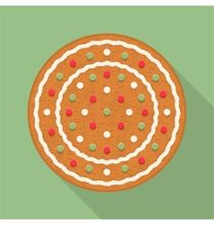 Gingerbread circle vector