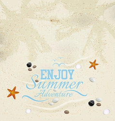 Summer sand background vector