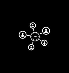Efficiency management icon flat design vector