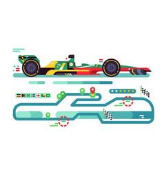 Sport car on track vector