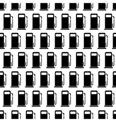 Black and white seamless pattern with gas stations vector