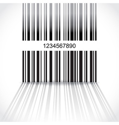 Barcode background vector image