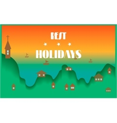 Holidays card vector
