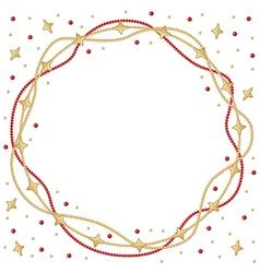Frame star round vector