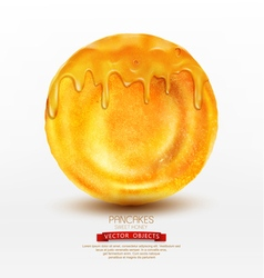pancake with honey isolated on white background vector image