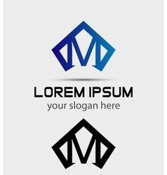 Letter M logo icon design template vector image