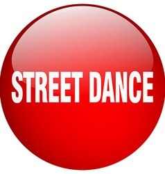 Street dance red round gel isolated push button vector