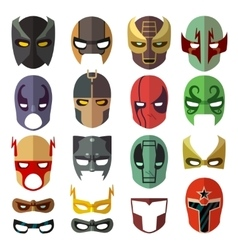 Superhero masks flat collection vector
