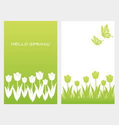 A set of two springtime vector