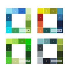 Abstract geometric line infographic templates vector
