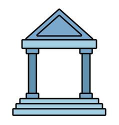 Antique greek building vector