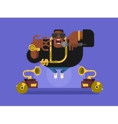 Black rapper character vector