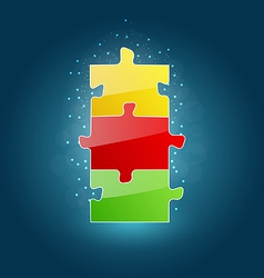 Business concept with set puzzle pieces for succes vector