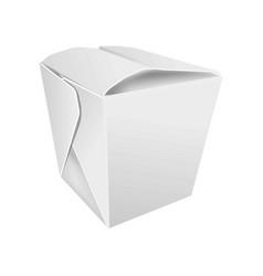 Closed asian food box vector