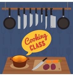 Culinary cooking class vector image vector image