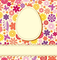 easter flower background vector image