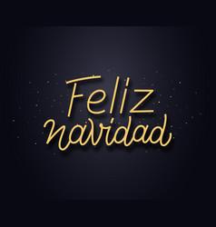 Feliz navidad wishes typography text card vector