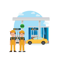 Gas petroleum petrol refill station vector
