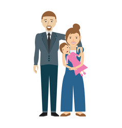 happy family love members vector image vector image