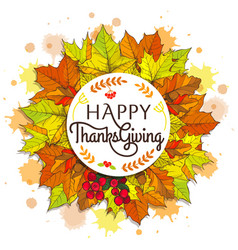 Happy thanksgiving placard on vector