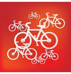 Hipster retro bicycle icon vector image