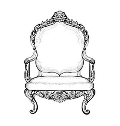 Imperial baroque armchair in luxurious ornaments vector