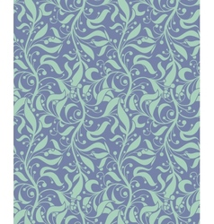 Light Blue Seamless Floral Pattern vector image vector image