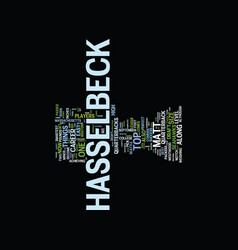 Matt hasselbeck draft day pick text background vector