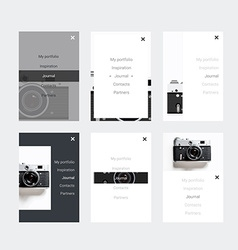 Minimalistic hipster UI Kit for designing vector image