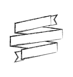 Monochrome sketch of ribbon swirl vector