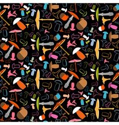 Mushroom Seamless Pattern - Background vector image vector image
