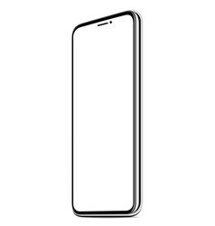 new smart phone white screen realistic isolated vector image vector image